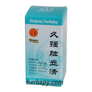 Jiu Qiang Nao li Qing for headache dizziness high blood pressure due to hyperaction of liver yang energy